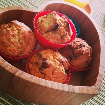 Almond muffins & chocolate chip muffins